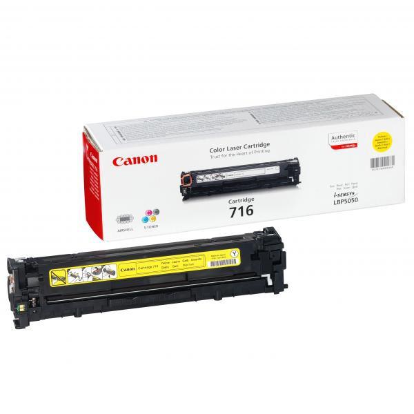Canon originální toner CRG716, yellow, 1500str., 1977B002, Canon LBP-5050, 5050n, MF-8050