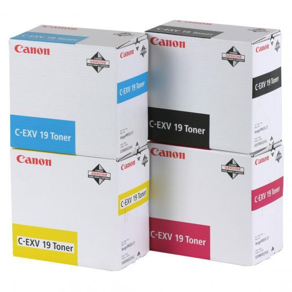 Canon originální toner CEXV19, yellow, 16000str., 0400B002, Canon ImagePress C1
