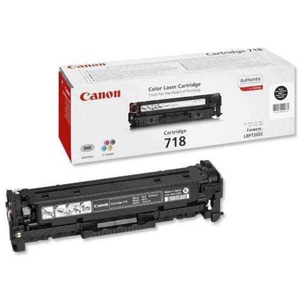 Canon originální toner CRG718, black, 6800str., 2662B005, Canon LBP-7200Cdn, Dual pack 2ks