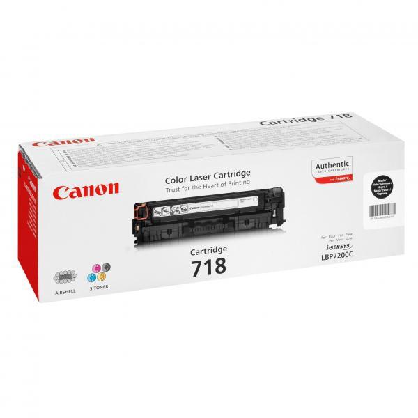 Canon originální toner CRG718, black, 3400str., 2662B002, Canon LBP-7200Cdn