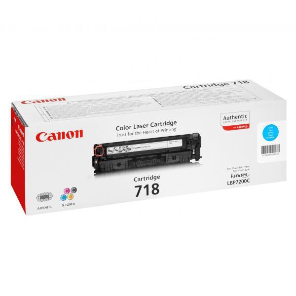 Canon originální toner CRG718, cyan, 2900str., 2661B002, Canon LBP-7200Cdn