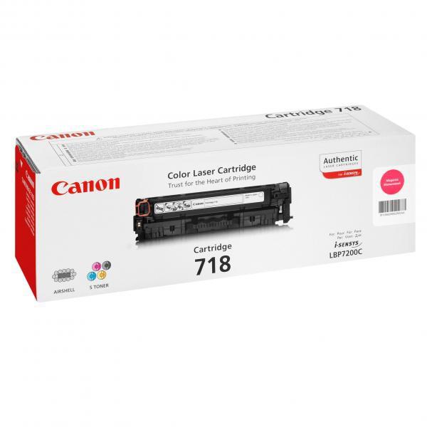 Canon originální toner CRG718, magenta, 2900str., 2660B002, 2660B011, Canon LBP-7200Cdn