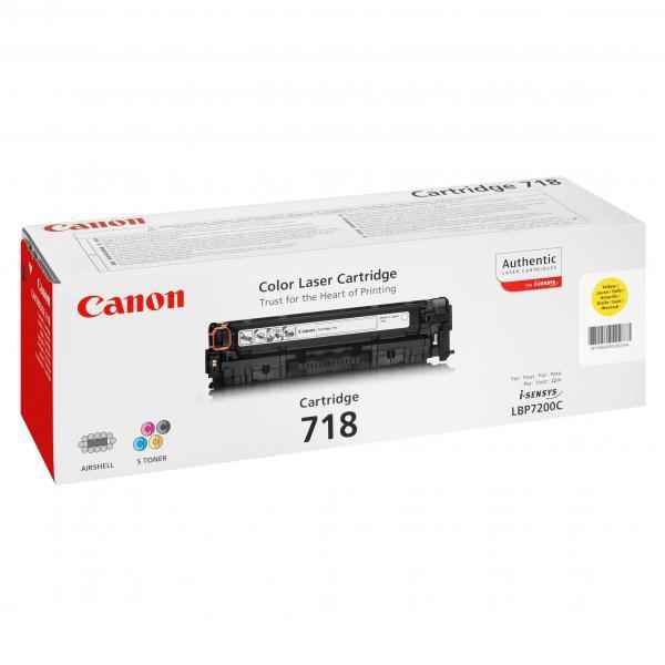 Canon originální toner CRG718, yellow, 2900str., 2659B002, Canon LBP-7200Cdn