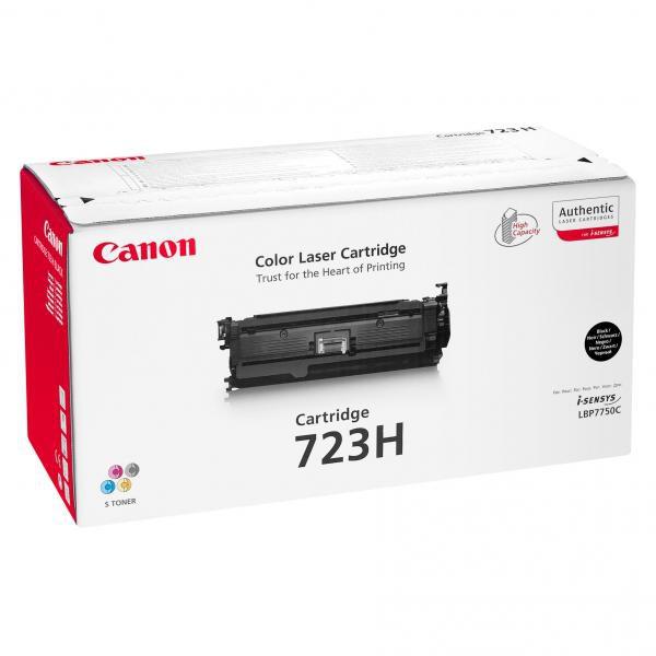 Canon originální toner CRG723H, black, 10000str., 2645B002, high capacity, Canon LBP-7750Cdn