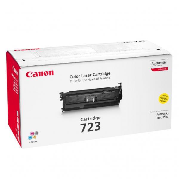 Canon originální toner CRG723, yellow, 8500str., 2641B002, 2641B011, Canon LBP-7750Cdn