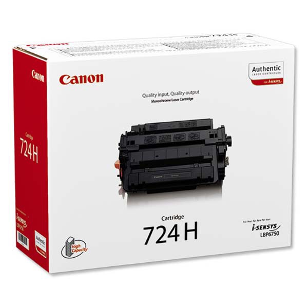 Canon originální toner CRG724H, black, 12500str., 3482B002, 3482B011, high capacity, Canon i-SENSYS LBP-6750dn