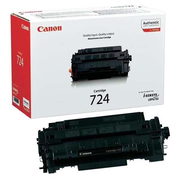 Canon originální toner CRG724, black, 6000str., 3481B002, Canon i-SENSYS LBP-6750dn