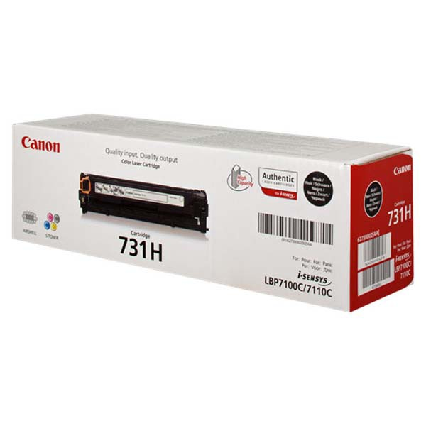 Canon originální toner CRG731H, black, 2400str., 6273B002, Canon LBP-7100Cn, 7110Cw, MF 8280Cw, high capacity