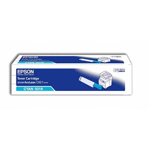 Epson originální toner C13S050318, cyan, 5000str., Epson AcuLaser CX21N, 21NF, 21NFC, 21NFCT, 21NFT