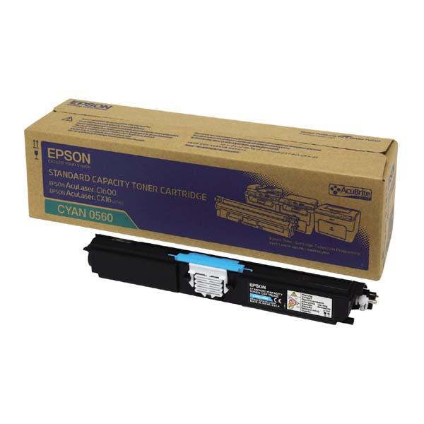 Epson originální toner C13S050560, cyan, 1600str., return, Epson AcuLaser C1600, CX16