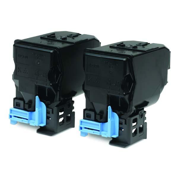 Epson originální toner C13S050594, black, 2x6000str., Epson AcuLaser C3900N, Dual pack double pack
