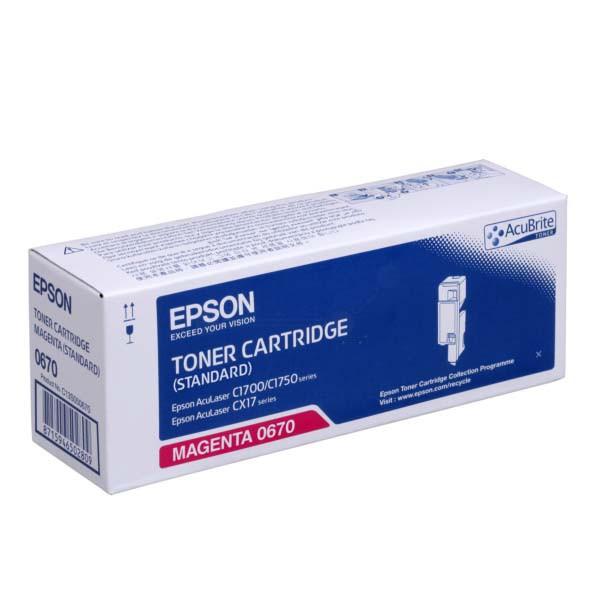 Epson originální toner C13S050670, magenta, 700str., Epson Aculaser C1700, C1750, CX17 series