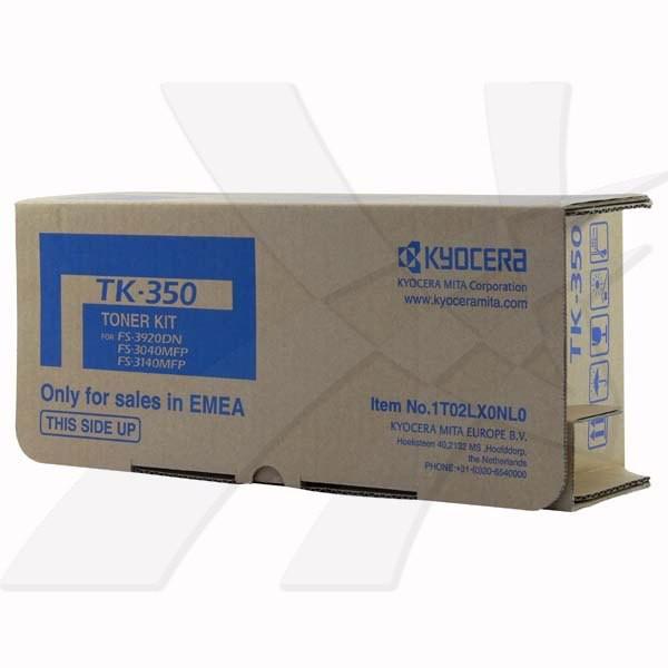 Kyocera originální toner TK350, black, 15000str., 1T02LX0NL0, Kyocera FS-3920DN, 3040MFP, 3140MFP, obsahuje odp. nadobku