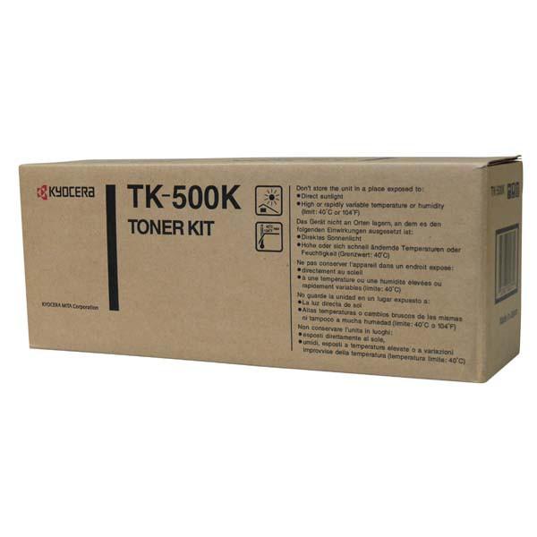 Kyocera originální toner TK500K, black, 8000str., Kyocera FS-C5016N, garanční pečeť Janus