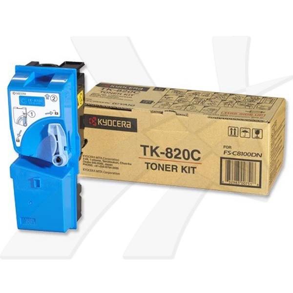 Kyocera originální toner TK820C, cyan, 7000str., 0T2HPCEU, Kyocera FS-C 8100DN