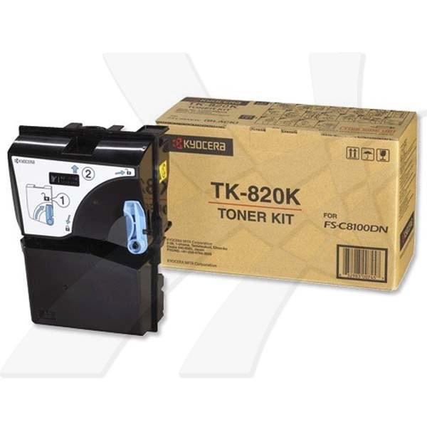 Kyocera originální toner TK820K, black, 15000str., 0T2HP0EU, Kyocera FS-C 8100DN