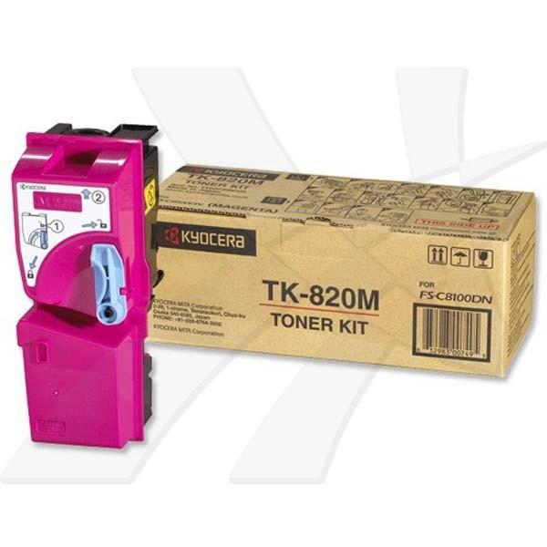 Kyocera originální toner TK820M, magenta, 7000str., 0T2HPBEU, Kyocera FS-C 8100DN