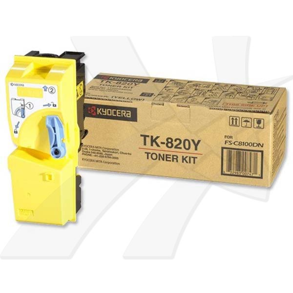 Kyocera originální toner TK820Y, yellow, 7000str., 1T02HPAEU, Kyocera FS-C 8100DN