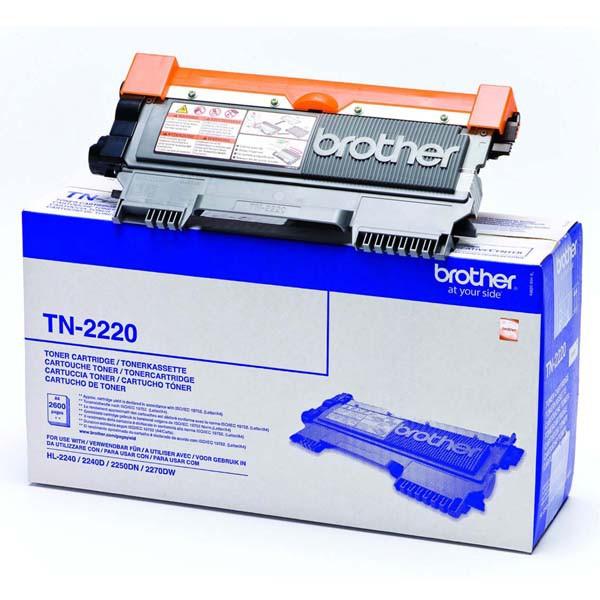Brother originální toner TN2220, black, 2600str., Brother HL-2240D, 2250DN