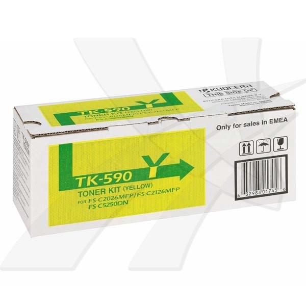 Kyocera originální toner TK590Y, yellow, 5000str., 1T02KVANL0, Kyocera FS-C 2026/2126MFP