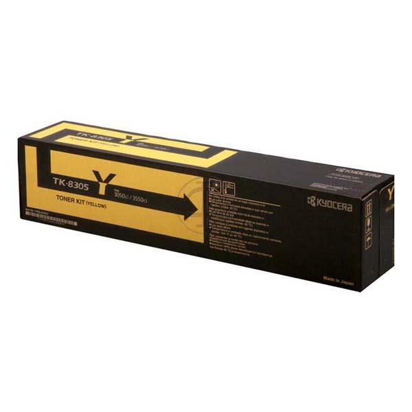 Kyocera originální toner TK8305Y, yellow, 15000str., 1T02LCANL0, Kyocera 3050Ci,3550Ci,3051ci