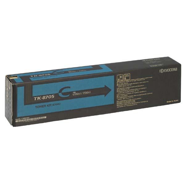 Kyocera originální toner TK8705C, cyan, 30000str., 1T02K9CNL0, Kyocera TASLalfa 6550I, 7550I