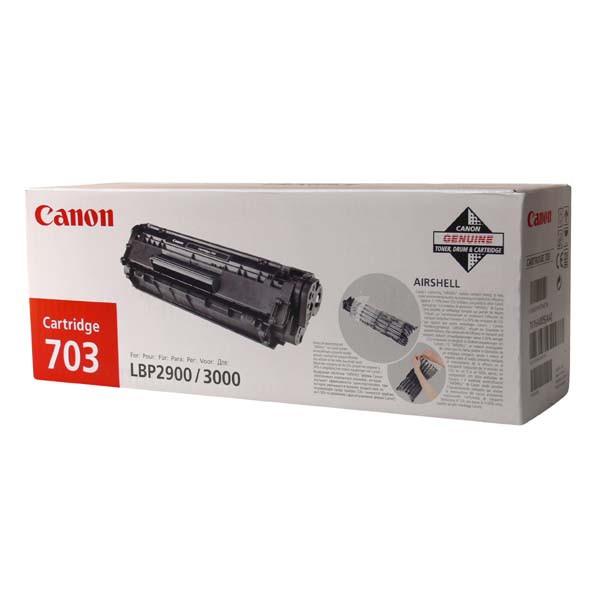 Canon originální toner CRG703, black, 2500str., 7616A005, Canon LBP-2900, 3000