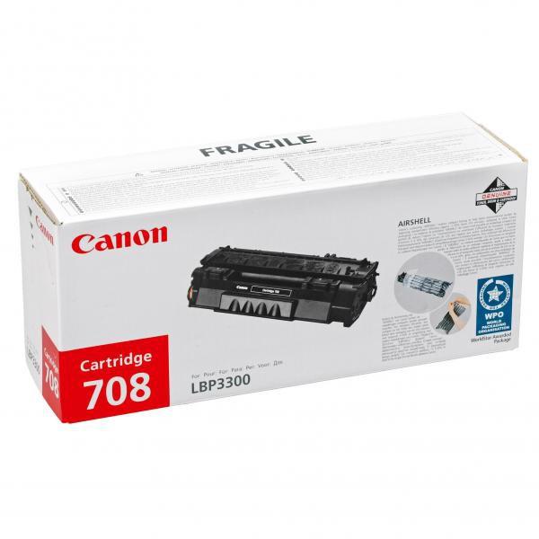 Canon originální toner CRG708H, black, 6000str., 0917B002, high capacity, Canon LBP-3300