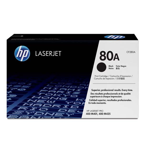 HP originální toner CF280A, black, 2700str., 80A, HP HP LJ Pro 400 M425, LJ Pro 400 M401, 850g