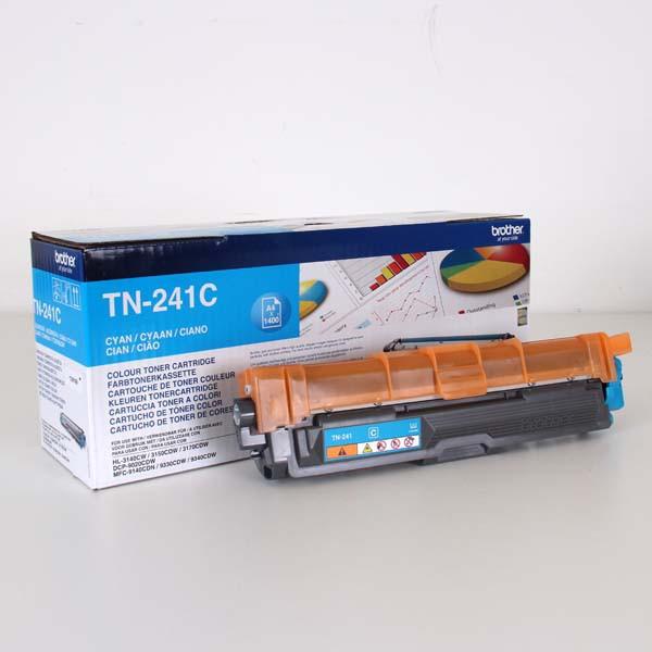 Brother originální toner TN241C, cyan, 1400str., Brother HL-3140CW, 3170CW