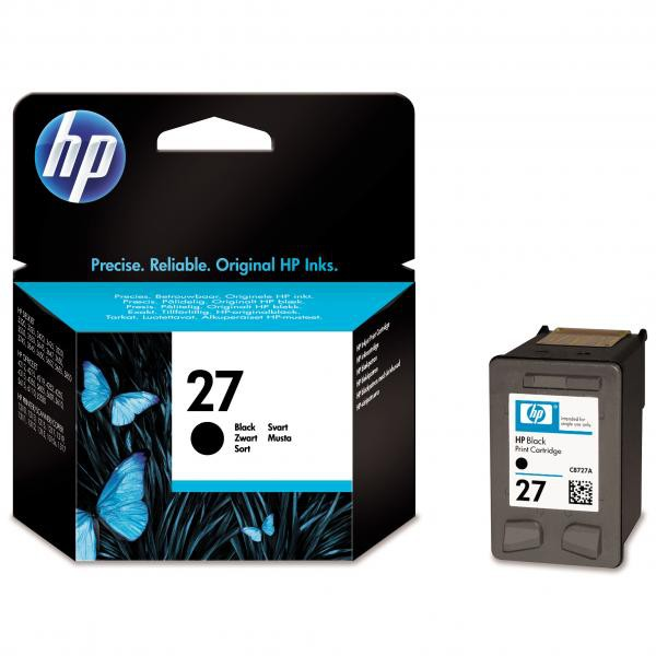 HP originální ink blistr, C8727AE#301, No.27, black, 10ml, HP DeskJet 3420, 3325, 3550, 3650