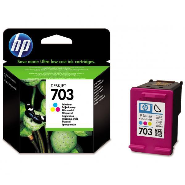 HP originální ink CD888AE, HP 703, tricolor, HP Deskjet