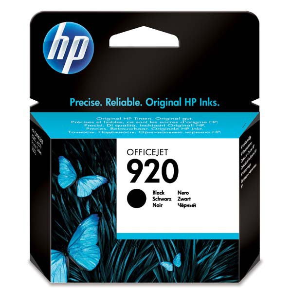 HP originální ink blistr, CD971AE#301, No.920, black, 420str., HP Officejet