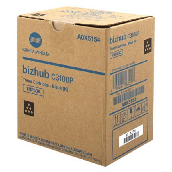 Konica Minolta originální toner A0X5154, black, 5000/4700str., TNP-50K, Konica Minolta Bizhub C3100P