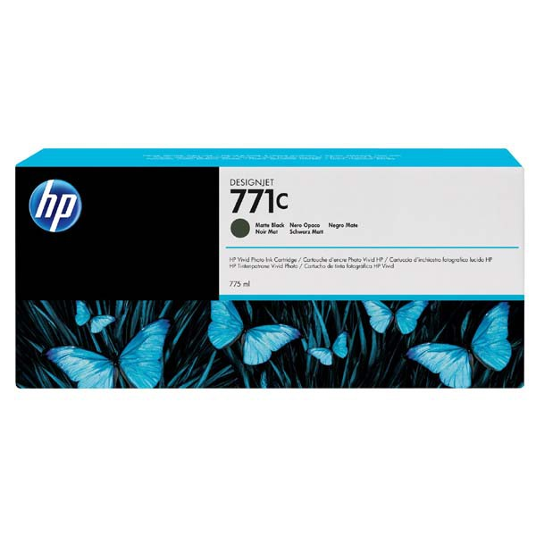 HP originální ink B6Y07A, HP 771C, matte black, 775ml, HP HP Designjet Z6200, Z6600, Z6800