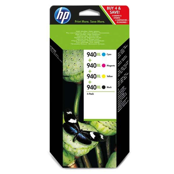 HP originální ink C2N93AE, CMYK, blistr, HP 940XL, HP