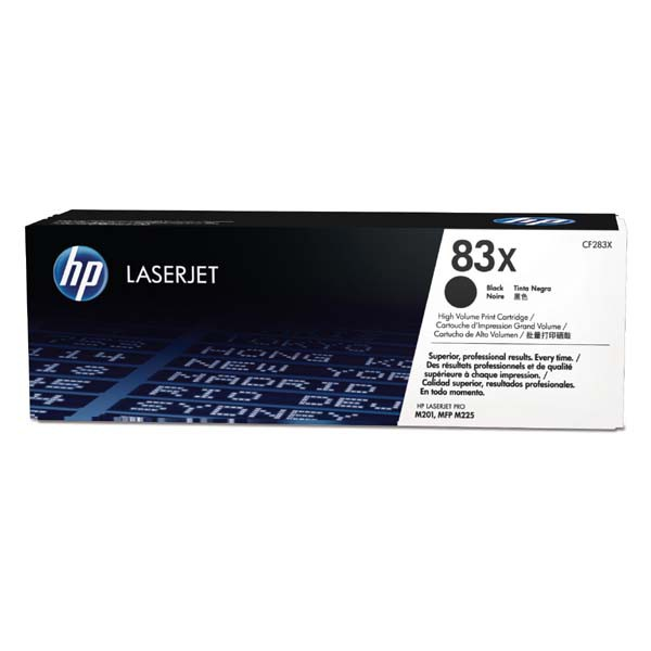 HP originální toner CF283X, black, 2200str., 83X, HP LaserJet Pro M201, M225, MFP M225dn, 830g