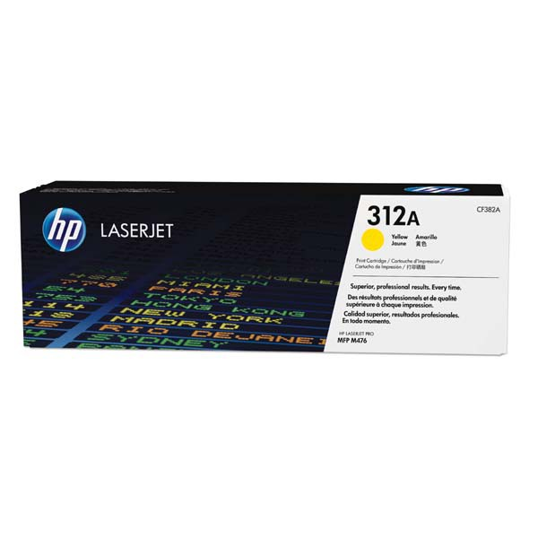 HP originální toner CF382A, yellow, 2700str., HP 312A, HP Color LaserJet Pro MFP M476dn, MFP M476dw, MFP M47, 720g