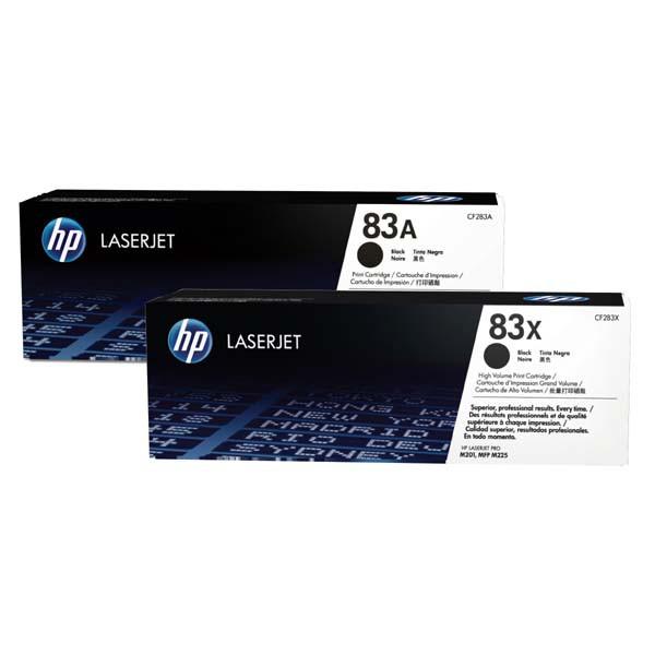 HP originální toner CF283AD, black, 2x1500str., 83A, HP LJ Pro M201dw,M201n,MFP M125a,MFP M125nrw, Dual pack 1240g, 2ks