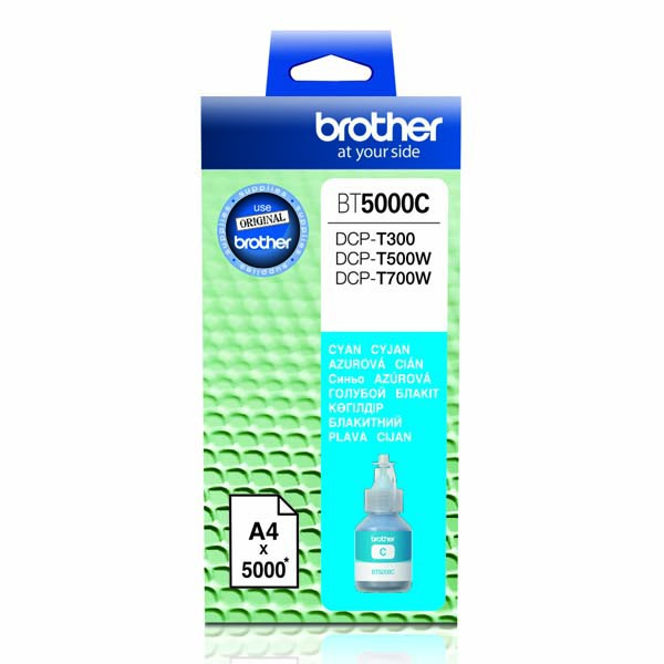 Brother originální ink BT-5000C, cyan, 5000str., Brother DCP T300, DCP T500W, DCP T700W