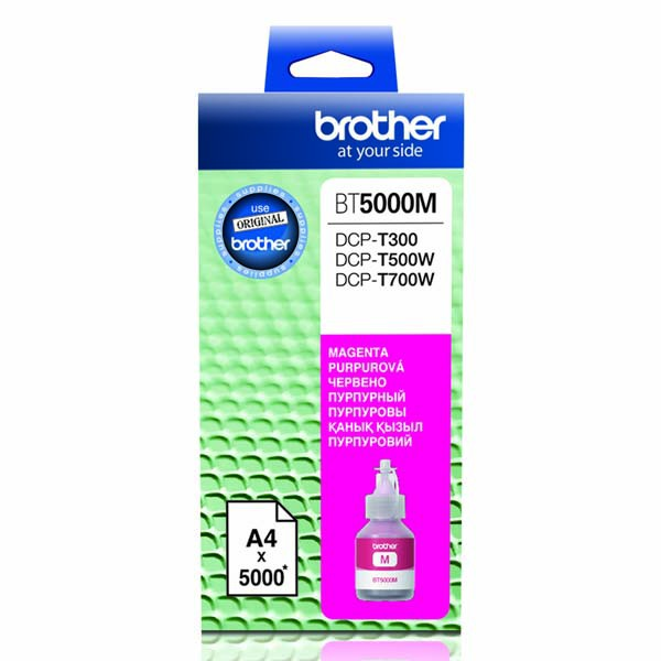 Brother originální ink BT-5000M, magenta, 5000str., Brother DCP T300, DCP T500W, DCP T700W