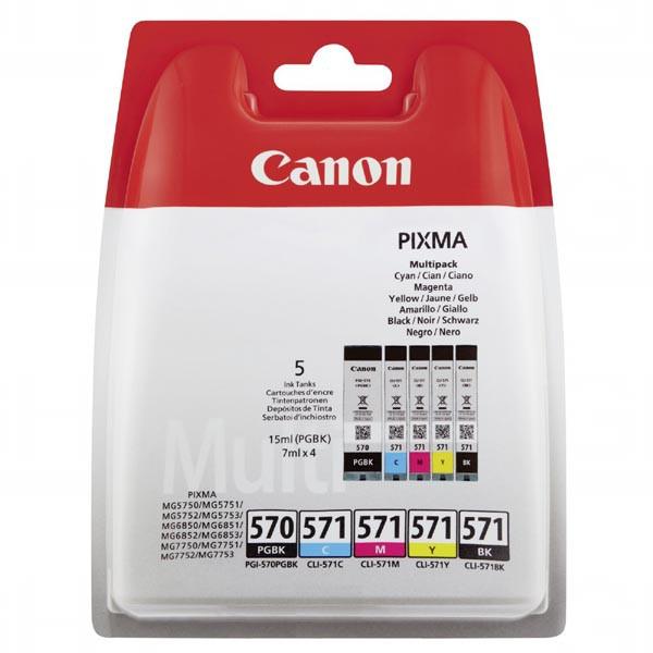 Canon originální ink PGI-570/CLI-571 PGBK/C/M/Y/BK Multi pack, black/color, 0372C004, Canon Pixma MG575x, MG685x, MG775x