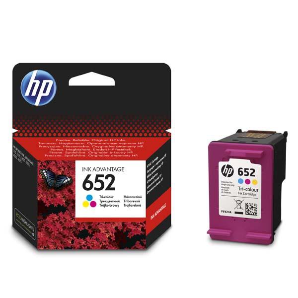 HP originální ink F6V24AE, HP 652, color, blistr, 200str., HP Deskjet IA 4535, 4675, 1115, 2135, 3635, 3835