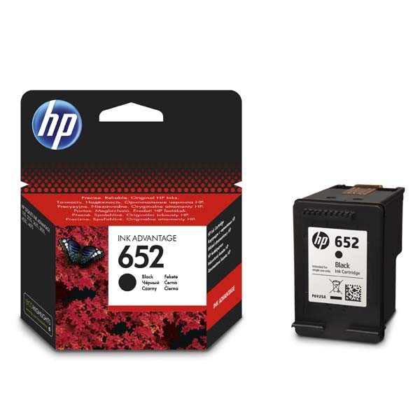 HP originální ink F6V25AE, HP 652, black, blistr, 360str., HP Deskjet IA 4535, 4675, 1115, 2135, 3635, 3835