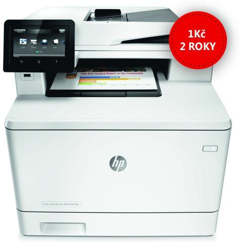 Pronájem HP Color LaserJet Pro MFP M477fdn za 1Kč + 1x sada tonerů + servis