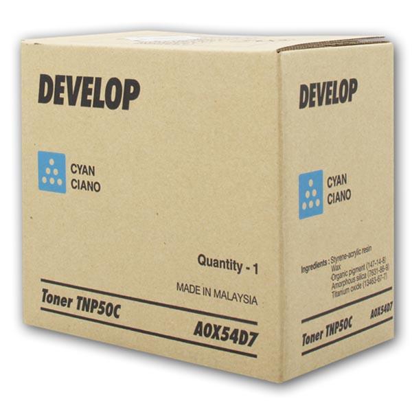 Develop originální toner A0X54D7, cyan, 5000str., TNP-50C, Develop Ineo +3100P