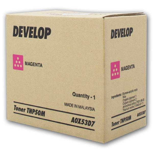 Develop originální toner A0X53D7, magenta, 5000str., TNP-50M, Develop Ineo +3100P