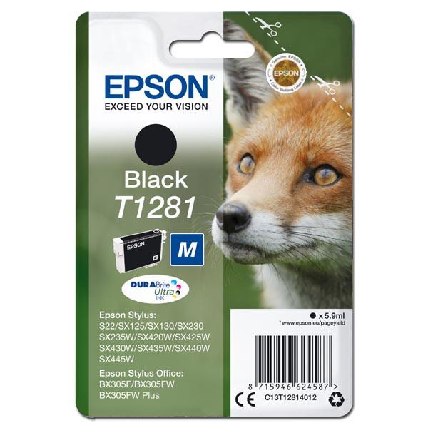 Epson T1281 (C13T12814012) - originální cartridge, černá, 5,9ml