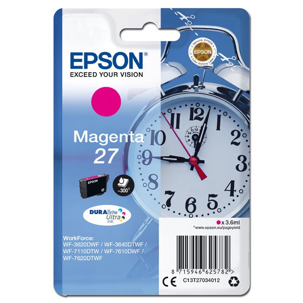 Epson T2703 (C13T27034012) - originální, magenta, 3,6ml