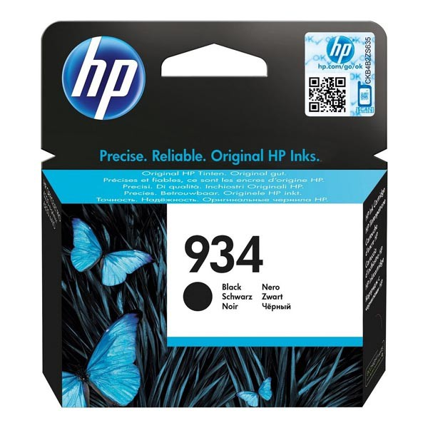 HP originální ink C2P19AE, HP 934, black, blistr, 400str., HP Officejet 6812,6815,Officejet Pro 6230,6830,6835